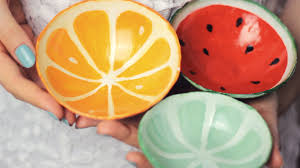diy clay fruit bowls from scratch watermelon orange lime