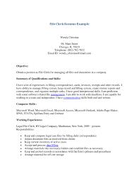 Clerk Responsibilities Resume Medical Records Clerk Resume Free Resume Example And Writing
