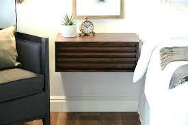 Floating Drawer Nightstand Amusing Wall Mount Bedside Table Mounted Shelf Lamps U2013 Ei Clinic Com