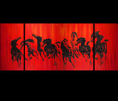 fung shui colors horse painting chinese horse painting feng shui painting