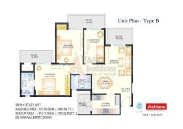 ashiana mulberry floor plan floorplan in