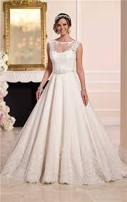 line illusion neckline keyhole back tulle lace wedding dress