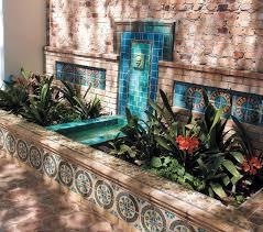 the artistic outdoor garden fountains room design ideas