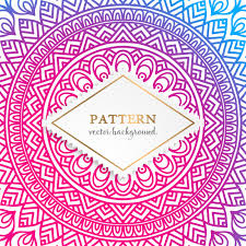 indian floral luxury ornament pattern vector free