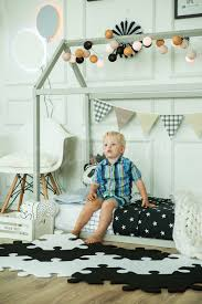 stylish black and white boys room decor idea house bed toddler