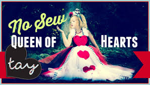 no sew queen of hearts tutorial diy youtube