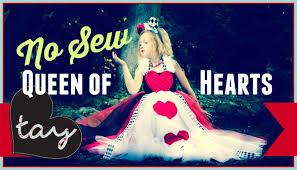 halloween costume queen of hearts no sew queen of hearts tutorial diy youtube