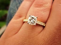 yellow gold engagement ring 2 carat diamond yellow gold engagement rings sparta rings