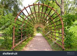 trellis arches ostankino estate moscow stock photo 34631026