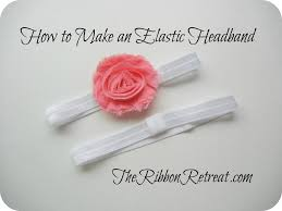 elastic headband how to make an elastic headband theribbonretreat