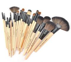 professional makeup brush set cosmetic tools with pink leather pouch bag t2sttnxgvn 209233000 jpg