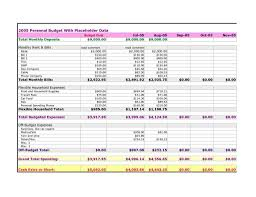 Monthly Bill Spreadsheet Monthly Expenses Excel Template Virtren Com