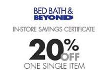Coupons Bed Bath And Beyond Bed Bath U0026 Beyond Coupons Ebay