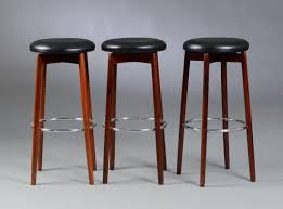 danish bar stools danish rosewood and chrome bar stools 1970s set of 5 for sale at