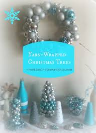 diy yarn wrapped christmas trees practical stewardship
