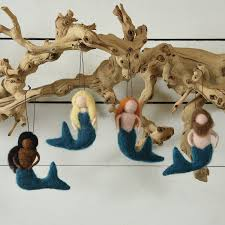 mermaid ornaments the handmade home