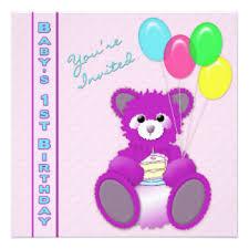 first birthday teddy bear invitations u0026 announcements zazzle