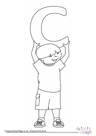 alphabet children colouring pages