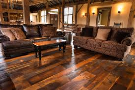 antique historic plank flooring barn loft rustic living room