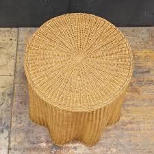 Wicker Table L Trompe L Oeil Vintage Rattan Draped Wicker Ghost Table