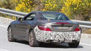 mercedes supercar 2016 2016 mercedes benz slc 450 amg sport makes spy photo debut