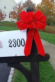 christmas bow mailbox decor christmas decoration weatherproof