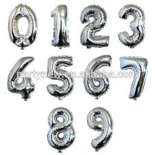 balloon decorations mylar number letter 16 inch gold silver number letter balloon birthday party decorations