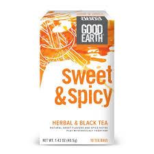 amazon com good earth herbal u0026 black tea sweet u0026 spicy 18