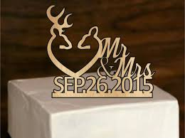 country wedding cake topper fall sale rustic deer wedding cake topper country wedding cake