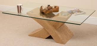 Coffee Table Glass by Milano X Glass U0026 Wood Coffee Table Oak 135 W X 80 D X 45 H Cm