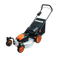 worx lawn mowers outdoor power equipment the home depot