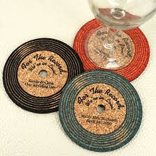coaster favors personalized vinyl record cork coaster coaster wedding and party