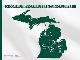 Msu Maps Community Campuses U0026 Clinical Sites Department Of Medicine