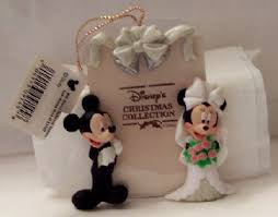 disney mickey minnie wedding photo frame ornament new