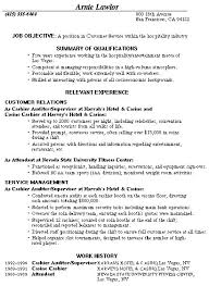 Skills For Customer Service Job Resume by Stunning Customer Service Hospitality Resume 60 About Remodel Free