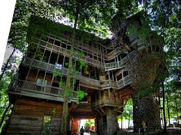 the minister s treehouse a 100ft church built 11 years