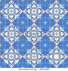 moroccan wrapping paper gorgeous seamless pattern moroccan portuguese tiles stock vector