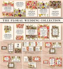 Wedding Invitation Cards Download Free Vintage Floral Wedding Invitation Bundle Free Download