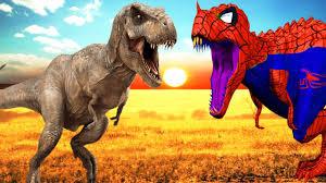 dinosaurs for kids spiderman dinosaur vs dinosaur fight 3d