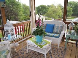 White Wicker Patio Furniture - fascinating balcony furniture decoration with floral pillow and