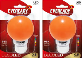 eveready 0 5w deco up led bulb orange pack of 2 price in india
