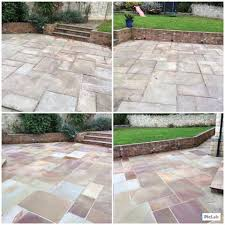 How To Remove Lichen From Patio Driveway Path And Patio Cleaning In Doncaster