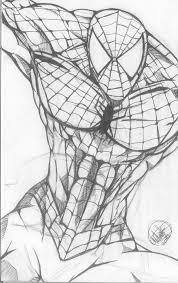 spiderman face sketches