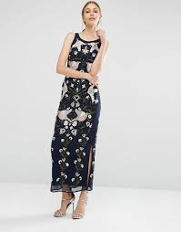 frock and frill embellished midi shift dress with scallop hem