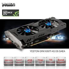 ordinateur de bureau jeux yeston geforce gtx 1050 ti gpu 4 gb gddr5 128 bits jeux d ordinateur