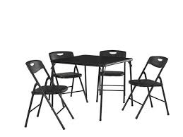 cosco products 5 piece folding table and chair set black cosco products 5 pc folding table and chair set black folding table