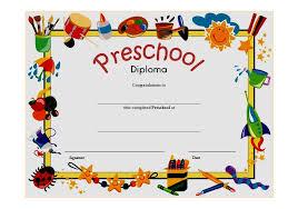 preschool diploma preschool diploma certificate template 6 the best template collection