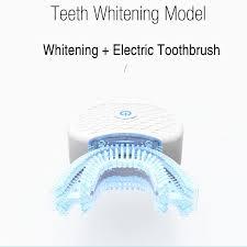 blue light whitening toothbrush automatic electric toothbrush teeth whitening light 2 in 1