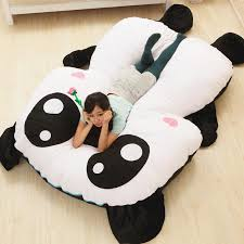 cartoon giant panda beanbag soft stuffed bed carpet sofa tatami