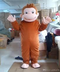ew style curious george monkey mascot costumes cartoon fancy dress